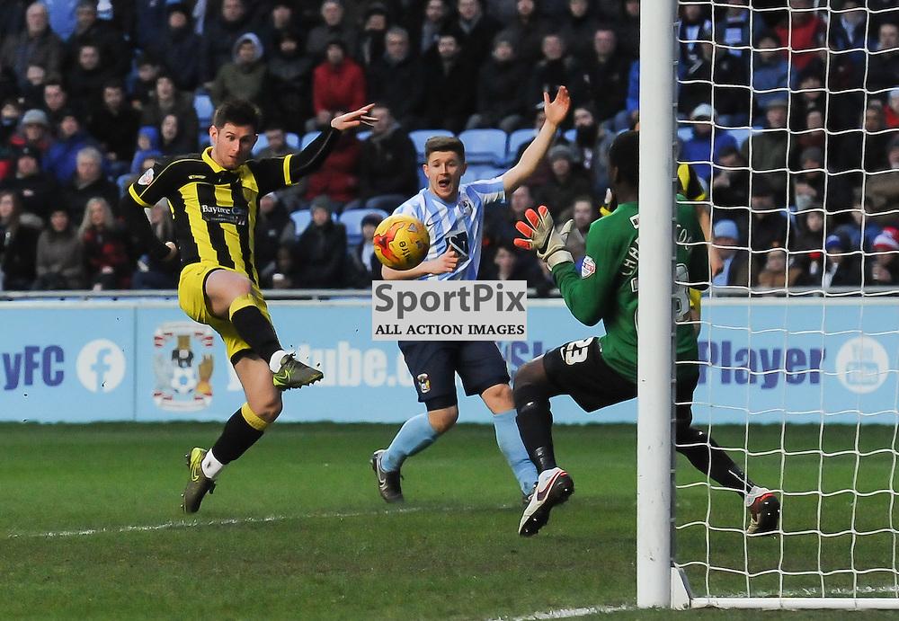 Tom Naylor puts Burton 1-0 ahead just after half time(c) Simon Kimber | SportPix.org.uk