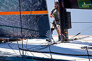 Proteus sailing in the  Corfu Challenge, day four.