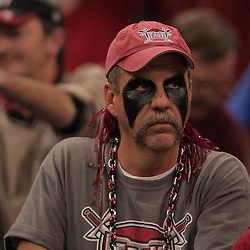 21 December 2008:  A Troy fan in the stands during 30-27 overtime victory by the Southern Mississippi Golden Eagles over the Troy Trojans in the  R+L Carriers New Orleans Bowl at the New Orleans Superdome in New Orleans, LA.