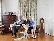 Senior Couple with Their Dog