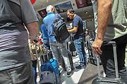 Security and Check in Batumi international airport, Georgia