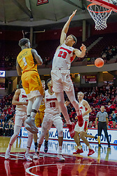 NORMAL, IL - February 05: William Tinsley forces the pass off on Daniel Sackey during a college basketball game between the ISU Redbirds and the Valparaiso Crusaders on February 05 2019 at Redbird Arena in Normal, IL. (Photo by Alan Look)