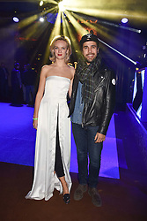Charlotte Carroll and Diego Bivero-Volpe at the Warner Music & Ciroc Brit Awards party, Freemasons Hall, 60 Great Queen Street, London England. 22 February 2017.