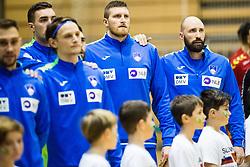 Kavticnik Vid of Slovenia, Blagotinsek Blaz of Slovenia during friendly handball match between national teams Slovenia and Montenegro on 4th Januar, 2020, Trbovlje, Slovenia. Photo By Grega Valancic / Sportida