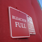 Ryder Cup 2016. The full bleacher sign on practice day at the Hazeltine National Golf Club on September 29, 2016 in Chaska, Minnesota.  (Photo by Tim Clayton/Corbis via Getty Images)