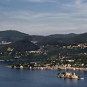 Isola San Giulio vista dal Santuario della Madonna del Sasso..San Giulio island seen from Madonna del Sasso Sanctuary