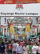 Malaysia, Kuala Lumpur. Chinatown. Jalan Petaling shopping street.