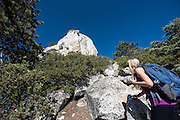 Caitlin Looby hiking up to the base of Tahquitz Peak, Idyllwild, California.
