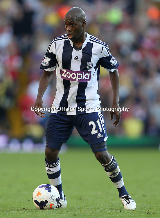 6th October 2013 - Barclays Premier League - West Bromwich Albion v Arsenal - Youssuf Mulumbu of West Brom - Photo: Simon Stacpoole / Offside.