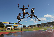 BELLVILLE, SOUTH AFRICA, Saturday 3 March 2012, athletes in the mens 3000m steeplechase during the Yellow Pages Interprovincial held at Bellville Stadium stadium, outside Cape Town..Photo by ImageSA/ASA
