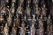 statuette of Thirty Three Kannon inside the Sugimotodera  Temple Kamakura Japan