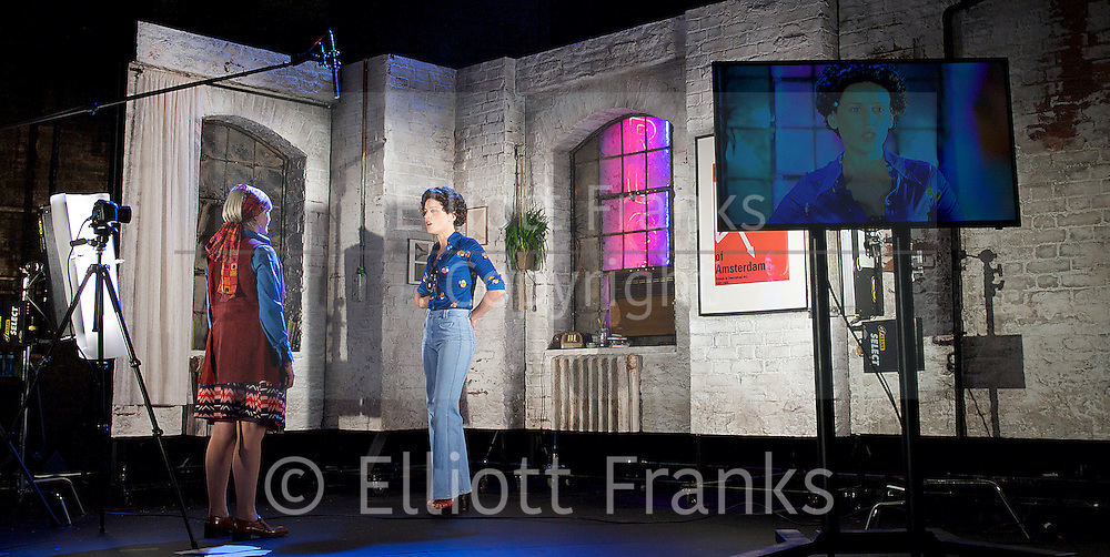 Adler &amp; Gibb <br /> written &amp; directed by Tim Crouch <br /> co-directed by Karl James and Andy Smith <br /> at The Royal Court Theatre, London, Great Britain <br /> Press Photocall<br /> 17th June 2014 <br /> <br /> Amelda Brown as Gibb <br /> <br /> Brian Ferguson as Sam<br /> <br /> Denise Gough as Louise<br /> <br /> Rachel Redford as Student