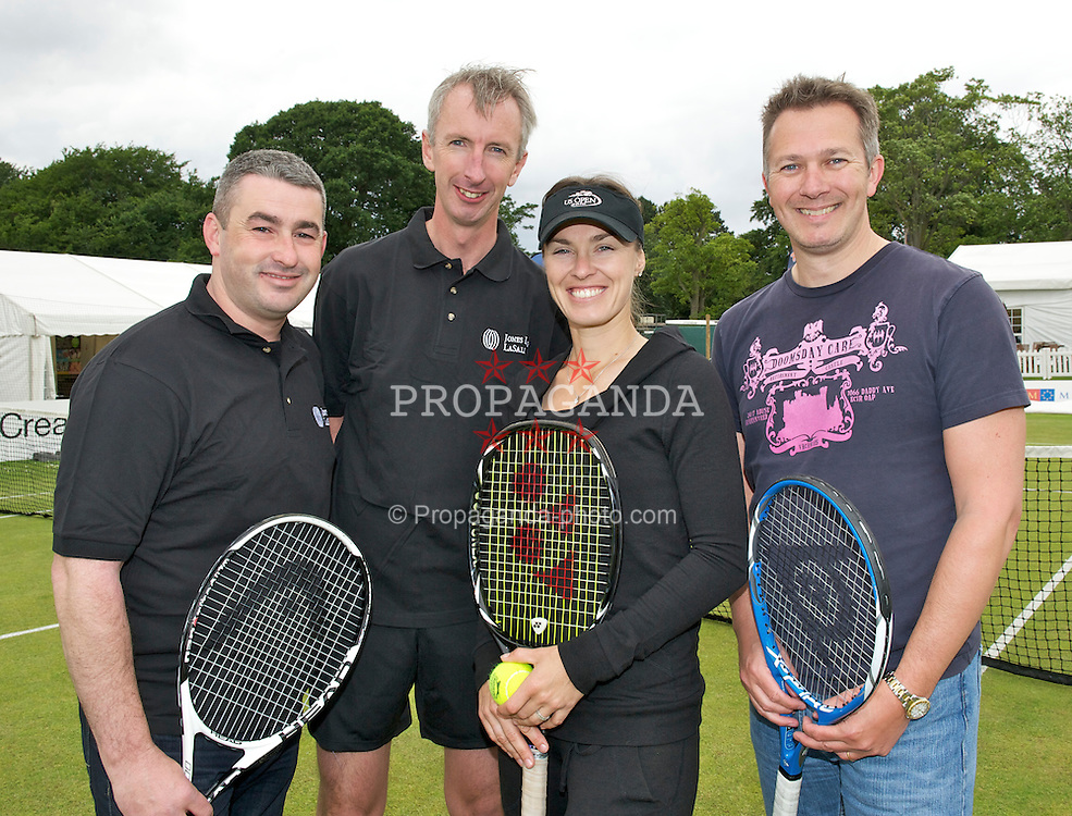 LIVERPOOL, ENGLAND - Friday, June 17, 2011: Martina Hingis (SUI) at a ProAm during day two of the Liverpool International Tennis Tournament at Calderstones Park. (Pic by David Rawcliffe/Propaganda)