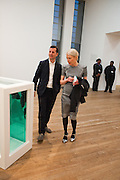 MATTHEW SLOTOVER; EMILY KING; , Damien Hirst, Tate Modern: dinner. 2 April 2012.