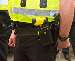 EMBARGOED TILL 16:00 14 DECEMBER 2017<br /> Pictured: <br /> <br /> Deputy Chief Constable Johnny Gwynne was at Tullialan Police College today tol make an announcement on police officer safety with 500 sadditional officers being trained and deployed with tasers to combat the number of incidents where officers are injured.<br /> <br /> Ger Harley | EEm 14 December 2017