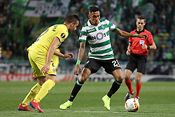 February 14, 2019 - Lisbon, Portugal - Raphinha (Raphael Dias Belloli) of Sporting CP in action during the Europa League 2018/2019 footballl match between Sporting CP vs Villarreal FC. (Credit Image: © David Martins/SOPA Images via ZUMA Wire)