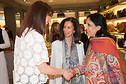 SAMANTHA CAMERON; MRS AIDEN BARCLAY; MONICA BURMAN;, Smythson Sloane St. Store opening. London. 6 February 2012.