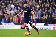 Portsmouth midfielder Gareth Evans (26) sprints forward with the ball during the EFL Sky Bet League 1 match between Milton Keynes Dons and Portsmouth at stadium:mk, Milton Keynes, England on 10 February 2018. Picture by Dennis Goodwin.