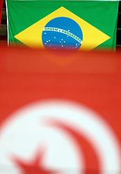 01-10-2014 ITA: World Championship Volleyball Servie - Nederland, Verona<br /> Nederland verliest met 3-0 van Servie en is kansloos voor plaatsing final 6 / Braziliaanse vlag en Turkse vlag