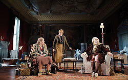 (L to R) In the picture: Linda Bassett, Selina Cadell, Frances de la Tour. .People, by Alan Bennett, The Lyttelton Theatre, NT, London, Great Britain, November 7, 2012. Photo by Elliott Franks / i-Images.
