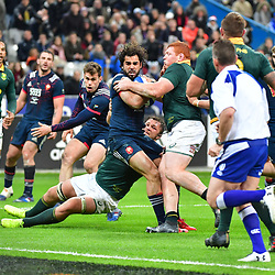 (L-R) Yoann Huget of France and Steven Kitshoff of South Africa during the test match between France and South Africa at Stade de France on November 18, 2017 in Paris, France. (Photo by Dave Winter/Icon Sport)