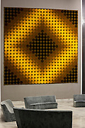 Inside view of Vasarely Foundation in Aix-en-Provence, France.