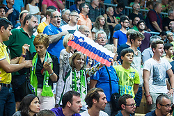 Slovenian supporter during friendly basketball match between National teams of Slovenia and Italy at day 3 of Adecco Cup 2015, on August 23 in Koper, Slovenia. Photo by Grega Valancic / Sportida