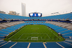 CHARLOTTE, USA - Friday, August 1, 2014: A general view of the Bank of America Stadium on day twelve of the club's USA Tour. (Pic by David Rawcliffe/Propaganda)