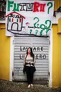 Verbicaro, Italia - 4 giugno 2011. Franca Resia, disoccupata. Raggiunge a stento la fine del mese e quando i soldi mancano del tutto chiede un prestito alla mamma. .Ph. Roberto Salomone Ag. Controluce