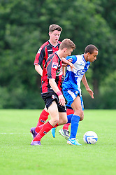 Bristol Rovers' U18s Donovan Wilson controls the ball under pressure  - Photo mandatory by-line: Dougie Allward/JMP - Tel: Mobile: 07966 386802 17/08/2013 - SPORT - FOOTBALL - Bristol Rovers Training Ground - Friends Life Sports Ground - Bristol - Academy - Under 18s - Youth - Bristol Rovers U18s V Bournemouth U18s