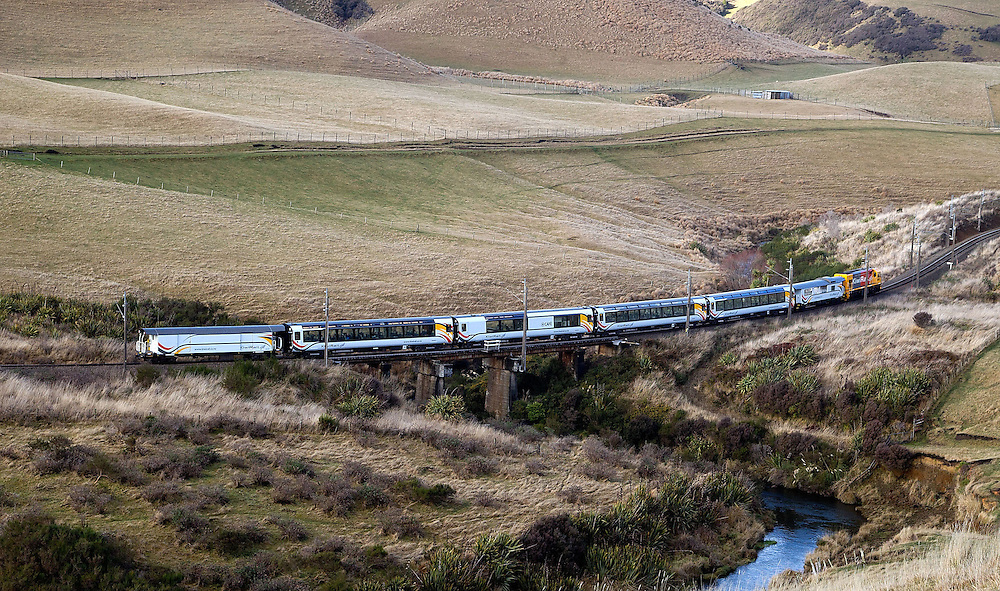 Kiwirail's new Northern Explorer Train travels South of Waiouru on its first run to Wellington in Waiouru, New Zealand, Monday, June 25, 2012. Credit:SNPA / Marty Melville