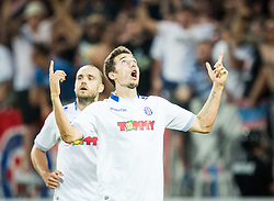 Zoran Nizic of Hajduk celebrates after he scored 2nd goal for Hajduk during First Leg football match between FC Luka Koper and HNK Hajduk Split (CRO) in Second qualifying round of UEFA Europa League, on July 16, 2015 in Stadium Bonifika, Koper, Slovenia. Photo by Vid Ponikvar / Sportida