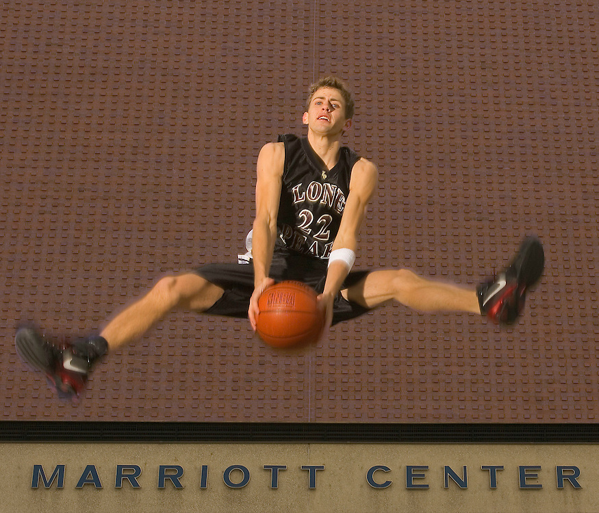 Mr. Basketball Jackson Emery of Lone Peak High School at the Marriott Center in Provo, Utah Monday, March 14, 2005. August Miller/ Deseret Morning News DIGITAL PHOTOGRAPH