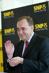 Alex Salmond elected leader of the SNP. The SNP leadership election result at Dynamic Earth, 3/9/2004.