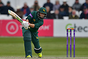Billy Root drives during the Royal London 1 Day Cup match between Worcestershire County Cricket Club and Nottinghamshire County Cricket Club at New Road, Worcester, United Kingdom on 27 April 2017. Photo by Simon Trafford.