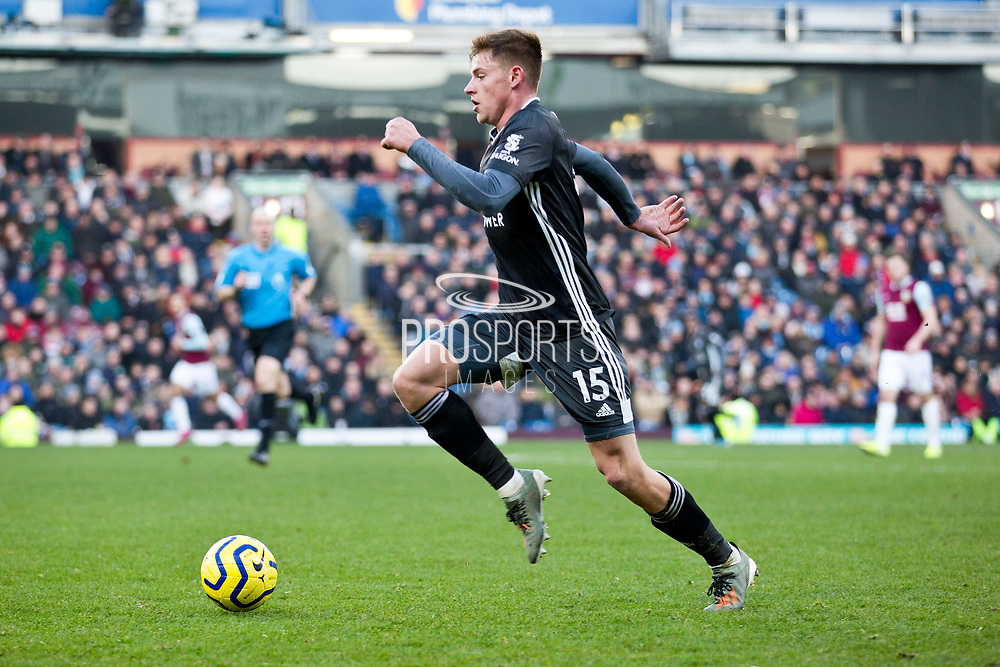 Leicester City midfielder Harvey Barnes in action  during the Premier League match between Burnley and Leicester City at Turf Moor, Burnley, England on 19 January 2020.