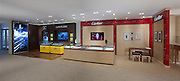 Interior image of Cartier and Breitling retail display at jewelery store by Jeffrey Sauers of Commercial Photographics