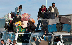 © under license to London News Pictures. 23/02/2011. Refugees flee Libya for Egypt. Many have only recently made it though to the Egyptian side of the border. Photo credit should read Michael Graae/London News Pictures