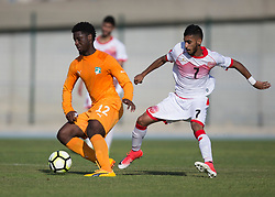 AUBAGNE, FRANCE - Tuesday, May 30, 2017: Ivory Coast's Jean Phillipe Krasso in action during the Toulon Tournament Group B match between Bahrain and Ivory Coast at the Stade de Lattre-de-Tassigny. (Pic by Laura Malkin/Propaganda)