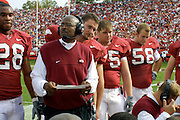 Arkansas vs South Carolina in Little Rock, Arkansas<br /> Arkansas won 10 to 7 over 9th ranked SC<br /> Photos by Wesley HittUniversity of Arkansas Football Coaches during the 2001-2002 Season.