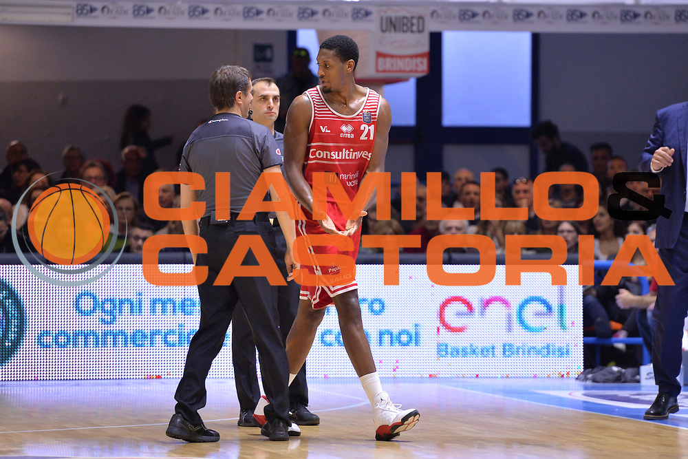 Jones Jerrod<br /> Enel Brindisi - Consultinvest Pesaro<br /> BASKET Serie A 2016 <br /> Brindisi 09/04/2017<br /> FOTO CIAMILLO / M.Longo