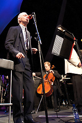 Cheltenham Jazz Festival, Cheltenham, United Kingdom, Georgie Fame, the Guy Barker Big Band and the BBC Concert Orchestra perform in The Big Top at Cheltenham Jazz Festival to celebrate Georgie Fame's 70th year. In a special broadcast for Friday Night is Music Night on BBC Radio 2 Georgie is joined by an array of musical friends, Alan Price, Zoot Money and Madeline Bell, Friday 03 May, 2013, Photo by: i-Images