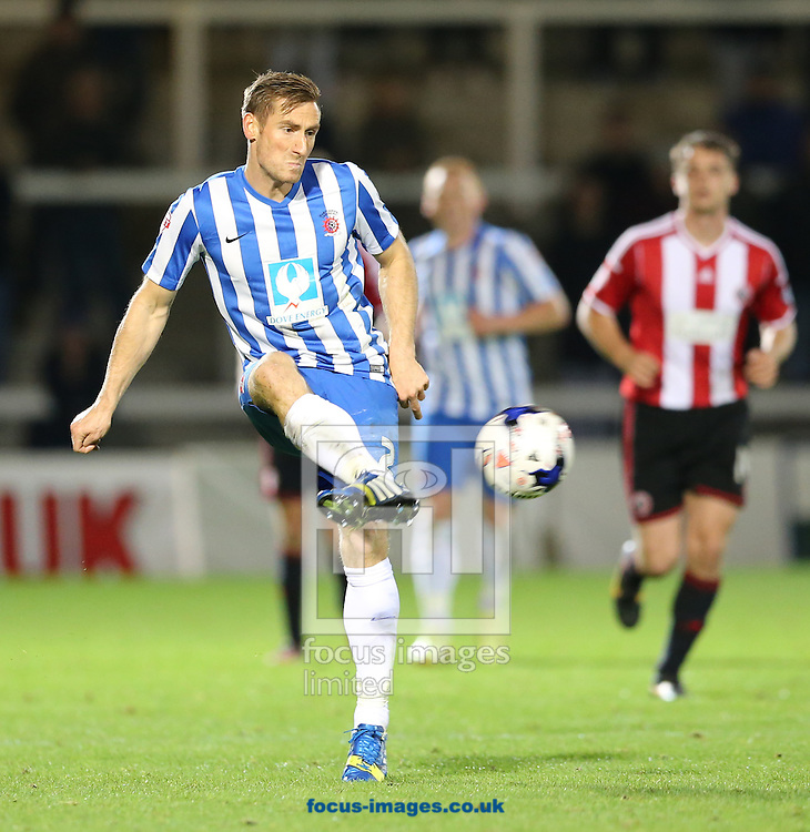 Neil Austin of Hartlepool United during the Johnstone's Paint Trophy match at Victoria Park, Hartlepool<br /> Picture by Simon Moore/Focus Images Ltd 07807 671782<br /> 07/10/2014