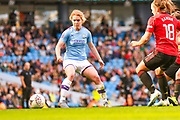 Manchester City Women defender Aoife Mannion (2) during the FA Women's Super League match between Manchester City Women and Manchester United Women at the Sport City Academy Stadium, Manchester, United Kingdom on 7 September 2019.