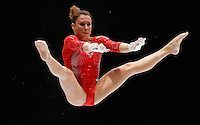 Vanessa Ferrari of Italy competes on the Uneven Bars during the women's all around final at the Artistic Gymnastics World Championships in Antwerp, Belgium, 04 October 2013.