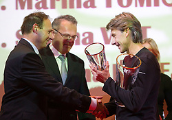 Boris Mikuz and coach Albert Soba during the Slovenia's Athlete of the year award ceremony by Slovenian Athletics Federation AZS, on November 12, 2008 in Hotel Mons, Ljubljana, Slovenia.(Photo By Vid Ponikvar / Sportida.com) , on November 12, 2010.