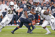 WEST LAFAYETTE, IN - SEPTEMBER 15: Tario Fuller #25 of the Purdue Boilermakers fumbles the ball as Terry Beckner Jr. #5 of the Missouri Tigers looks to tackle at Ross-Ade Stadium on September 15, 2018 in West Lafayette, Indiana. (Photo by Michael Hickey/Getty Images) *** Local Caption *** Tario Fuller; Terry Beckner Jr. NCAA Football - Purdue Boilermakers vs Missouri Tigers at Ross-Ade Stadium in West Lafayette, Indiana. Sports photographer by Michael Hickey