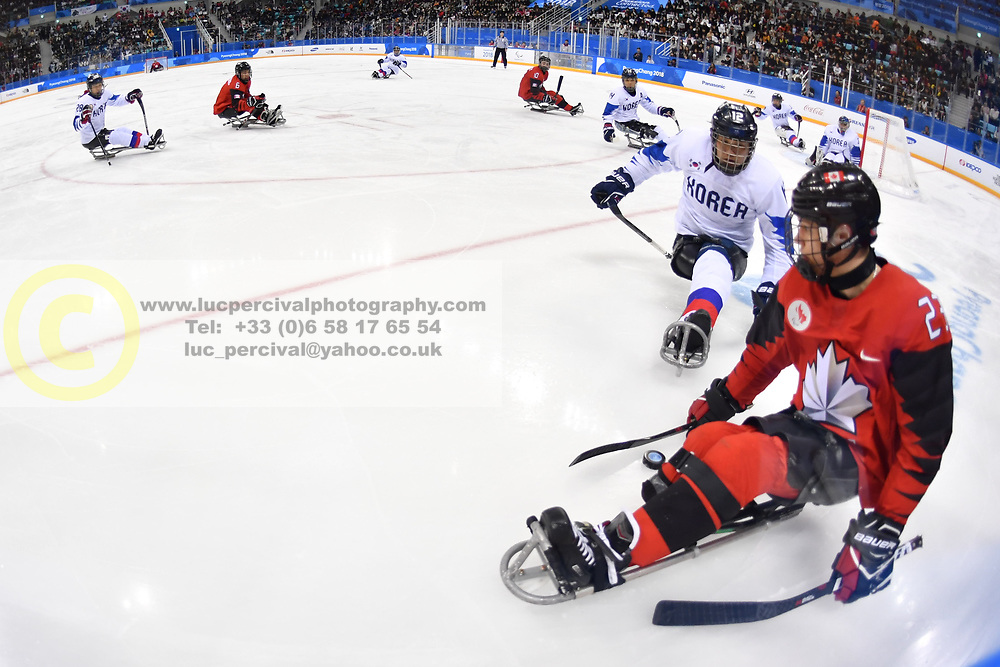 Korea V Canada in the Para Sledge Hockey at  the PyeongChang2018 Winter Paralympic Games, South Korea.