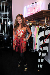 JADE JAGGER at the opening of Jade Jagger's shop at 43 All Saints Road, London W11 on 25th November 2009.