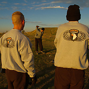 December 12th 2003....Mosul, Northern Iraq.....Golf course on US Army base...An officer at the 101st Airbourne base in Mosul, Norhtern Iraq has built a six hole golf course, by location it is probaly the most hostile in the world and is reckoned to Iraq's first and only course.